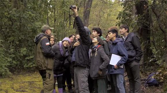 Grupo de Alumnos durante las actividades de monitoreo